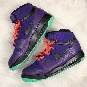 Nike Air Revolution Purple High Top Strap Sneakers